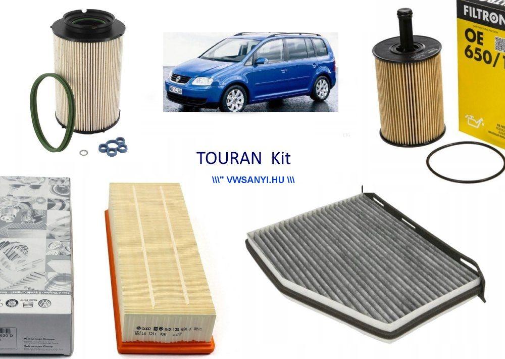 Olajcsere szürőszett VW TOURAN 1,9 PDTDI - 2,0 PDTDI