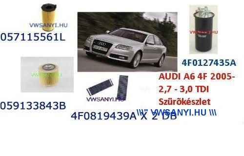 Olajcsere Szürőkészlet Szett AUDI A6 4F 2005 2,7 - 3,0 TDI