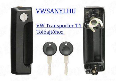 VW Tranporter T4 Tolóajtó kilincs + zár + Kulcs 7D0843704A