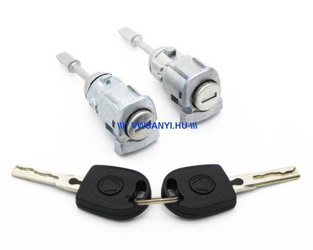 Ajtózárbetét készlet bal-jobb komplett + 2 kulcs Passat B5